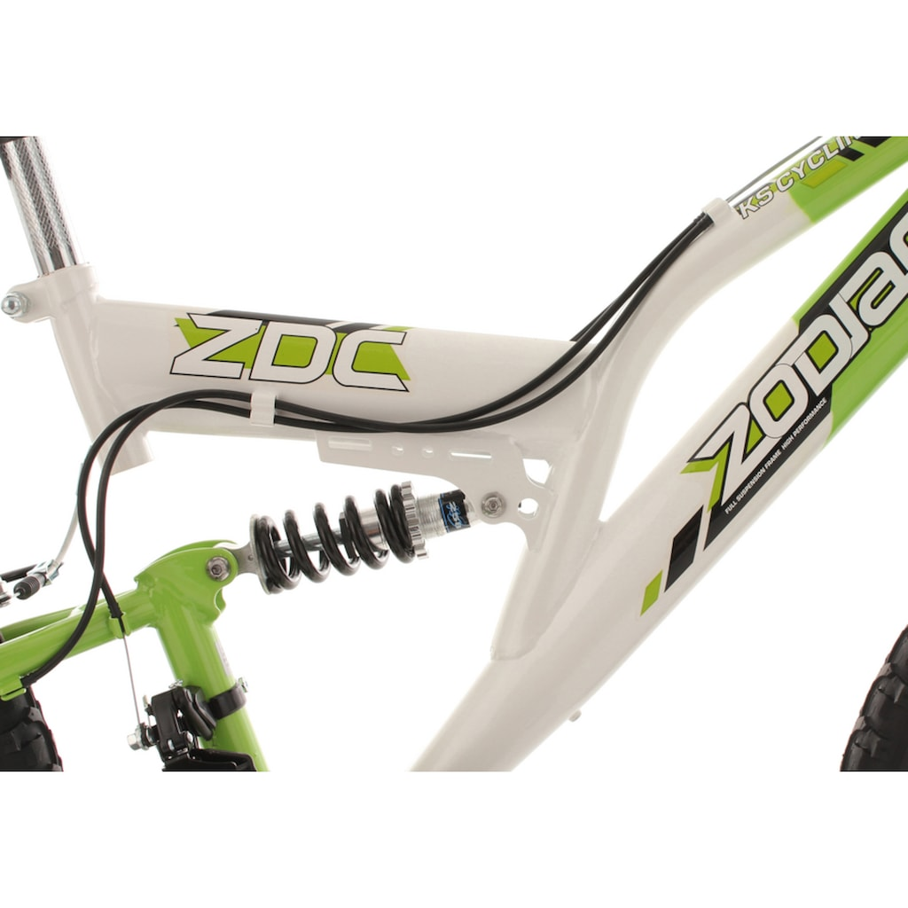KS Cycling Jugendfahrrad »Zodiac«, 18 Gang, Shimano, Tourney Schaltwerk, Kettenschaltung