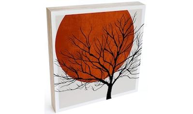 Wall-Art Holzbild »Tischdeko Sonnenuntergang«, (1 St.) kaufen