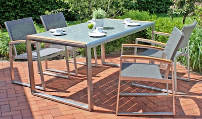 GARDEN PLEASURE Gartenmöbelset »AVA«, 5 - tlg. 4 Stühle, Tisch, Alu/Kunststoff kaufen