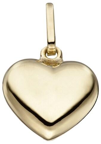 JOBO Herzanhänger »Herz«, 925 Silber vergoldet kaufen