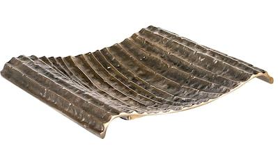 GILDE Dekoschale »Schale Novum, eckig, antik goldfarben«, aus Metall, mit... kaufen