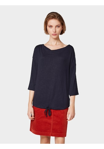 TOM TAILOR 3/4 - Arm - Shirt »3/4 Arm Shirt mit Wasserfallausschnitt« kaufen