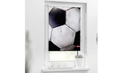 LICHTBLICK Seitenzugrollo »Rollo Klemmfix, ohne Bohren, Verdunkelung, Retro Fußball - Schwarz-Weiß«, verdunkelnd, Verdunkelung, freihängend kaufen