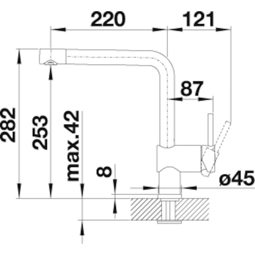 Blanco Küchenarmatur »LINUS«, Hochdruck