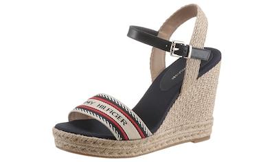 Tommy Hilfiger High-Heel-Sandalette »TH ARTISANAL HIGH WEDGE SANDAL«, mit Bastbezug am... kaufen