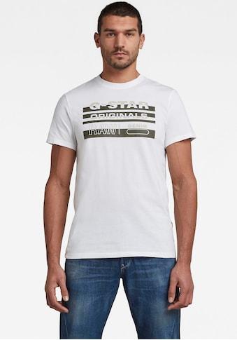 G-Star RAW Rundhalsshirt »Originals Stripe Logo Tee« kaufen