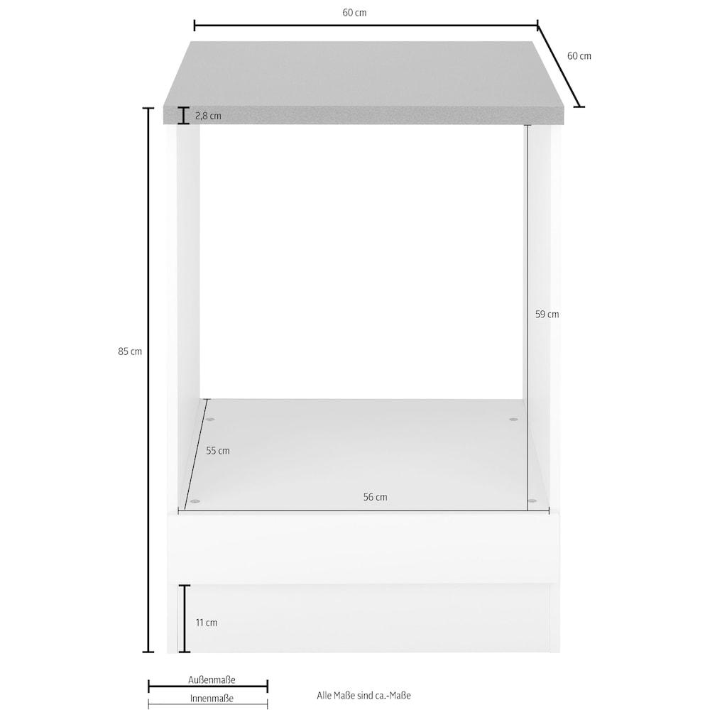 HELD MÖBEL Herdumbauschrank »Tulsa«, 60 cm breit, für Einbau-Herdset