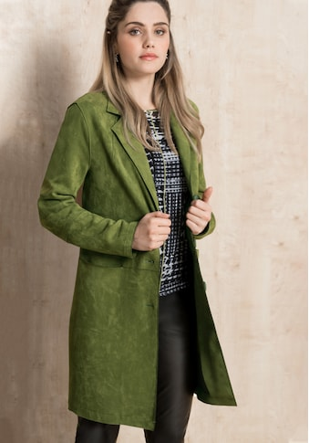 bianca Langjacke »THERES«, in trendiger Veloursoptik und Modefarbe ivy kaufen