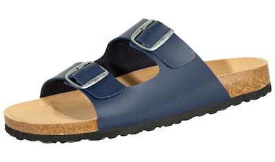 Pantolette »808711 SALIHA Pantolette dunkelblau«, SALIHA Bioline Pantolette dunkelblau kaufen