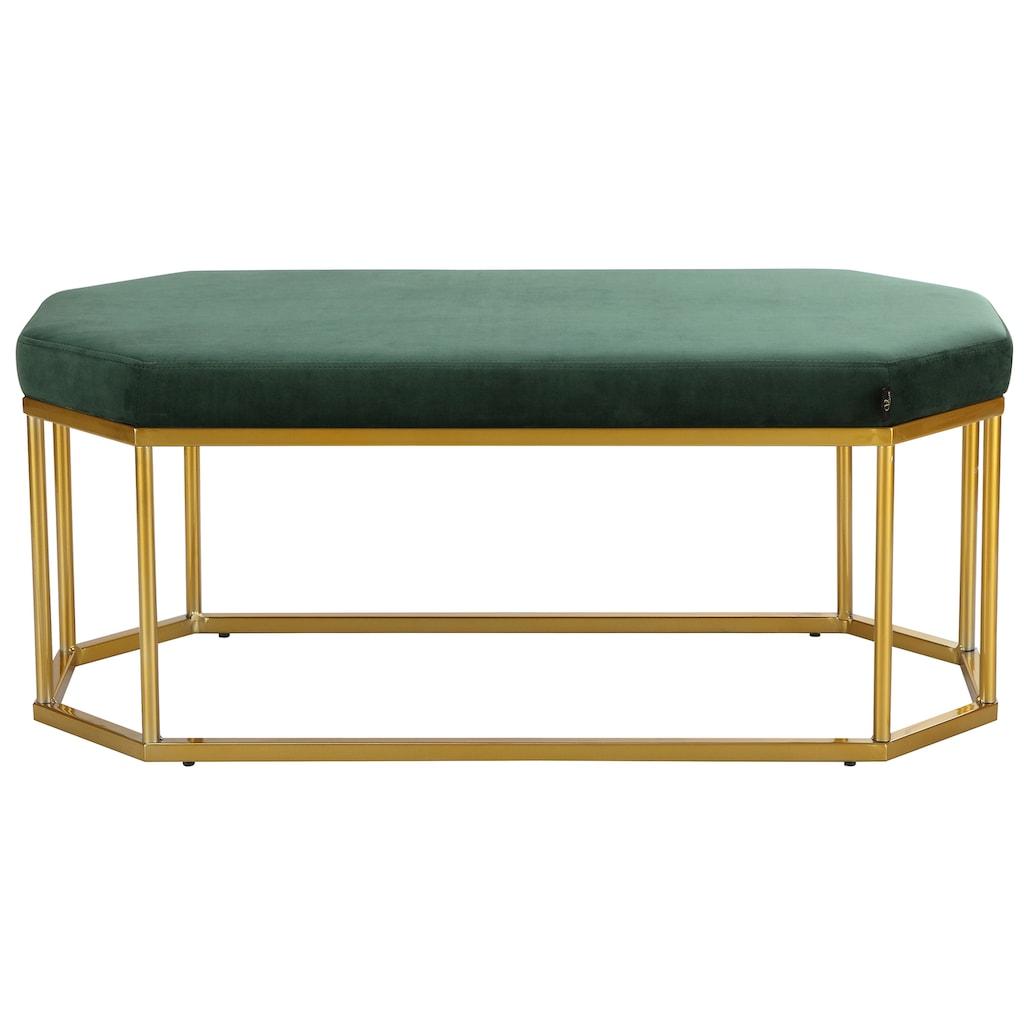 Leonique Bank »Kyra«, mit einem schönen pflegeleichten Samtvelours Bezug, Sitzhöhe 38,5 cm