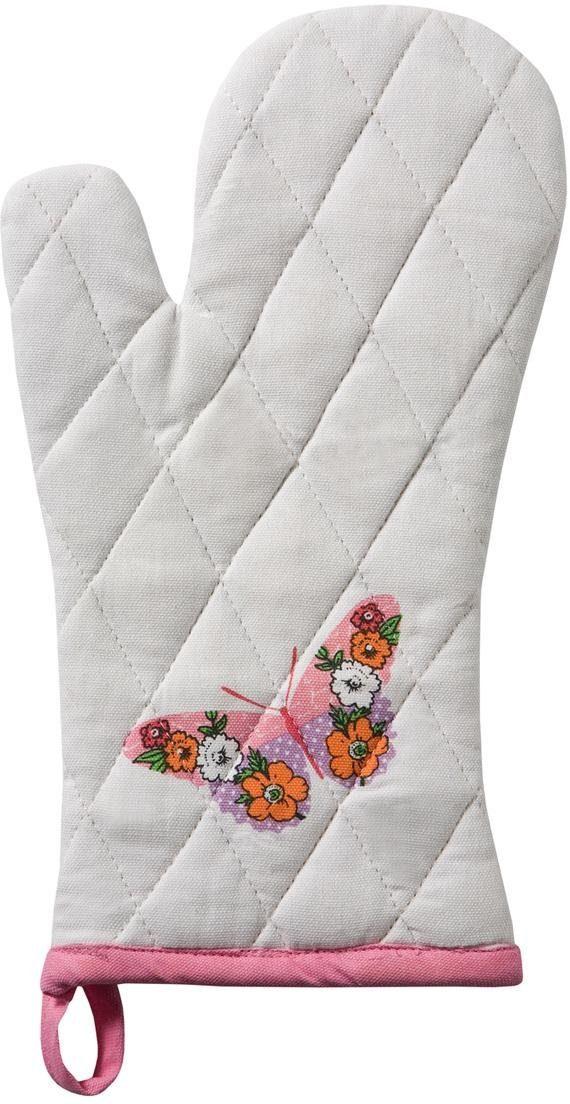 DDDDD Topfhandschuhe Butterfly, (Set, 6 tlg.) weiß Topflappen und Topfhandschuh Kochen Backen Haushaltswaren