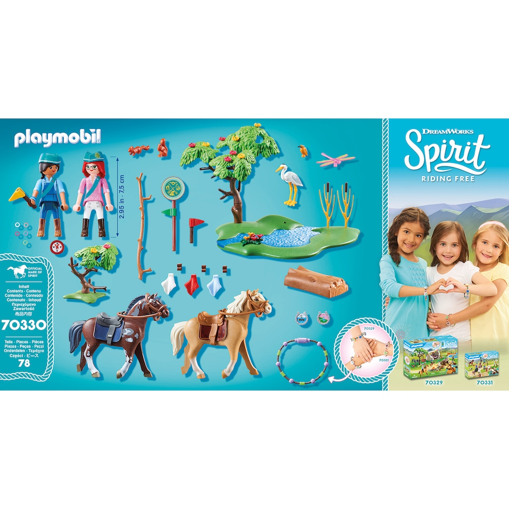 Playmobil® Konstruktions-Spielset »Herausforderung am Fluss (70330), Spirit Riding Free«, ; Made in Germany
