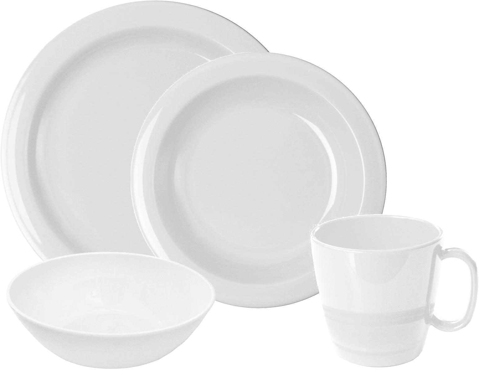 WACA Frühstücks-Geschirrset, (Set, 8 tlg.) weiß Frühstücksset Eierbecher Geschirr, Porzellan Tischaccessoires Haushaltswaren Frühstücks-Geschirrset