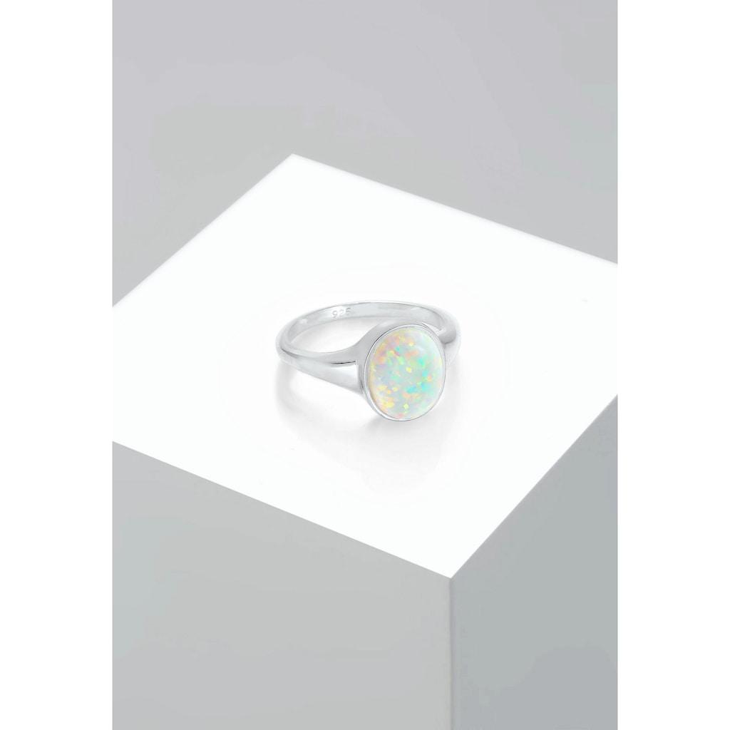 Elli Siegelring »Siegelring Mondstein Oval 925 Silber«