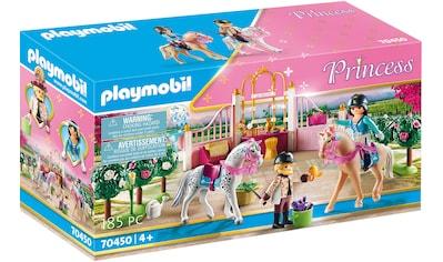 Playmobil® Konstruktions-Spielset »Reitunterricht im Pferdestall (70450), Princess«, (185 St.), ; Made in Germany kaufen