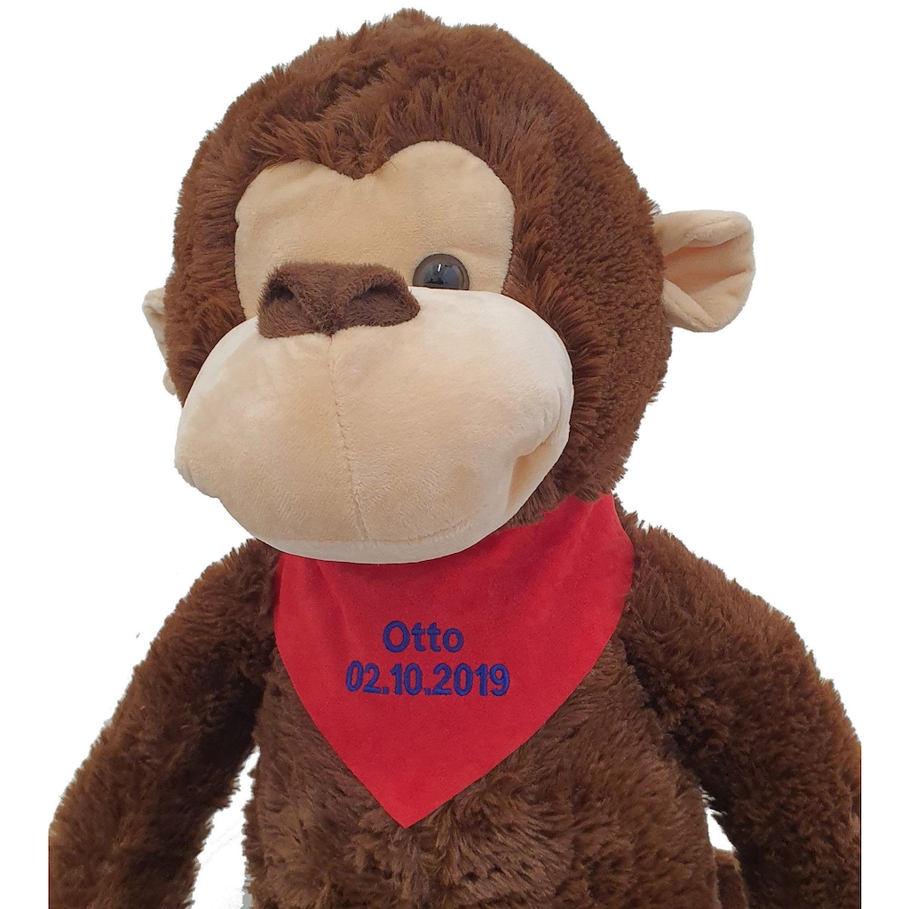 Heunec® Kuscheltier »MISANIMO Affe schlenkernd, 100 cm«, mit individuell bestickbarem Halstuch