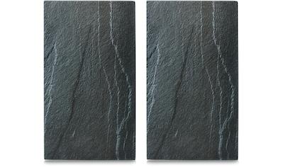 Zeller Present Schneide- und Abdeckplatte »Schiefer«, 6 rutschfesten Elastikfüßen pro Platte kaufen