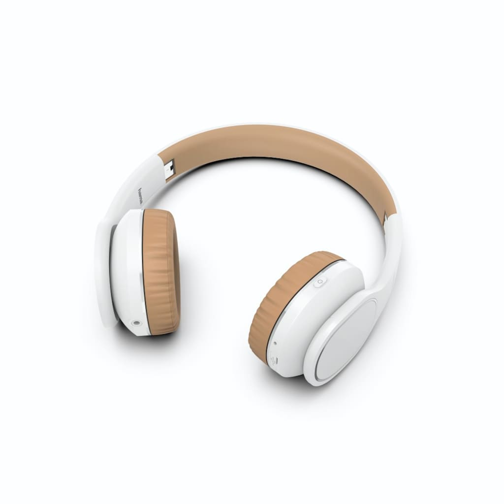 Hama Bluetooth®-Kopfhörer On-Ear, Mikrofon, Touch-Control Weiß