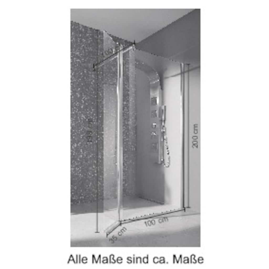 welltime Walk-in-Dusche »Mailand«, Breite 100 cm, Duschabtrennung