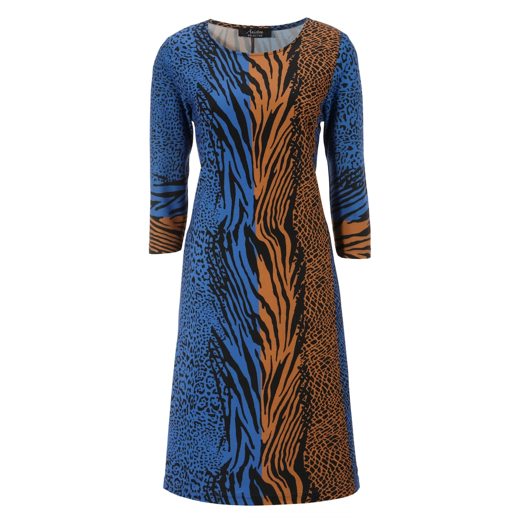 Aniston SELECTED Jerseykleid, im Animal-Print