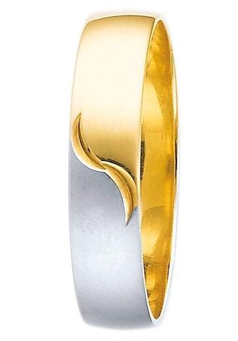 Firetti Trauring mit Gravur »glanz, matt, Diamantschnitt, bicolor, 5,0 mm breit«, Made... kaufen
