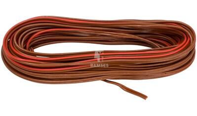 RAMSES Fahrzeugleitung , Lautsprecherleitung Rot/Braun 2 x 1,5 mm² 50 Meter kaufen