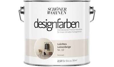 SCHÖNER WOHNEN-Kollektion Wand- und Deckenfarbe »Designfarben«, leichtes Leinenbeige Nr. 10, feinmatt 2,5 l kaufen