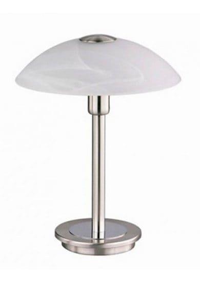 Paul Neuhaus Tischleuchte ENOVA, G9, Warmweiß, inklusive Halogenleuchtmittel,inklusive Touchdimmer,Glas Alabaster Dekor,2800 Kelvin