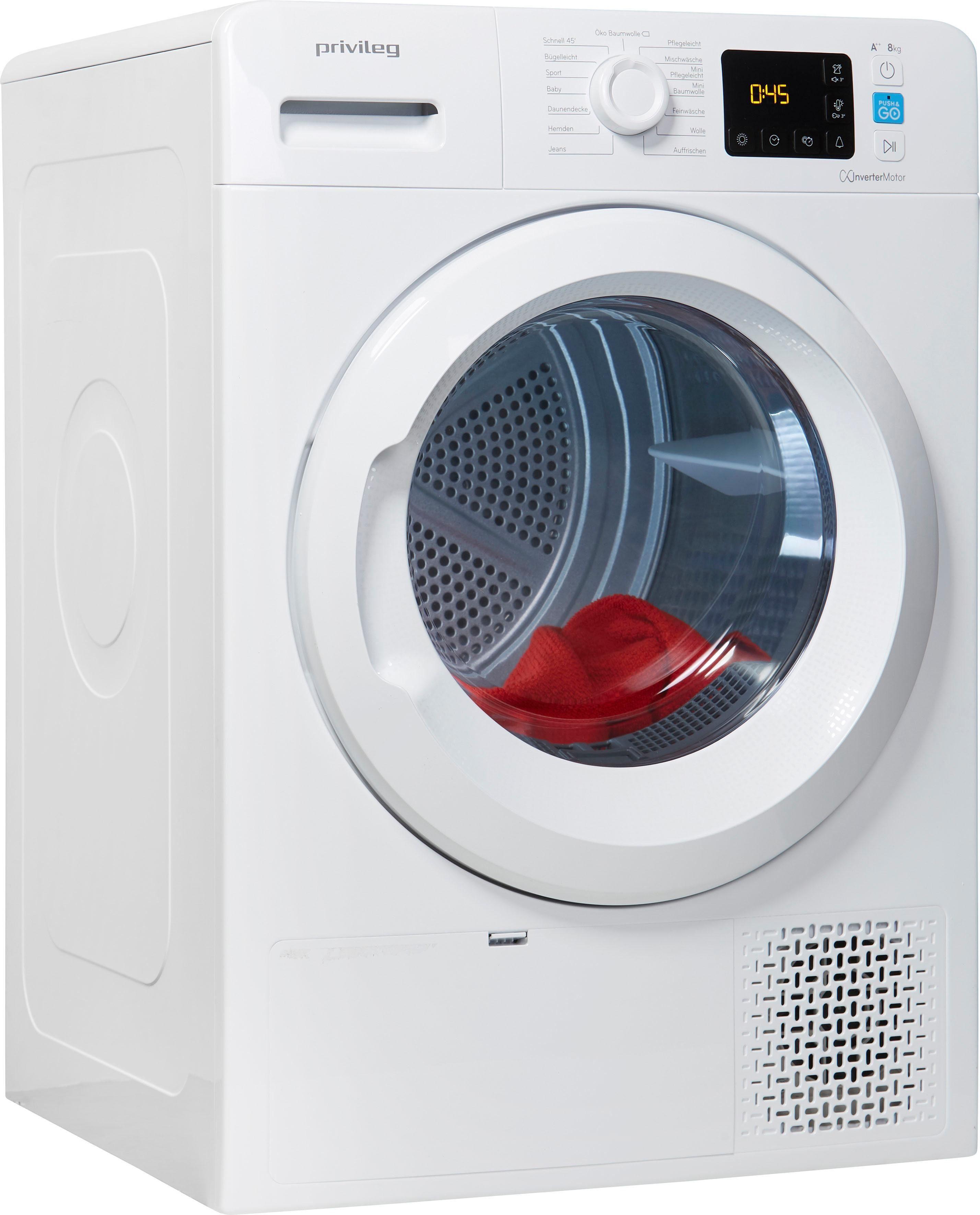 Privileg Wärmepumpentrockner PWCT M11 82 X DE 8 kg | Bad > Waschmaschinen und Trockner > Wärmepumpentrockner | Weiß | Privileg