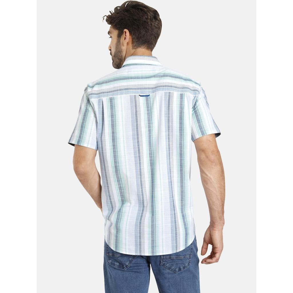 Jan Vanderstorm Streifenhemd »HOLM«, reine Baumwolle, Comfort Fit