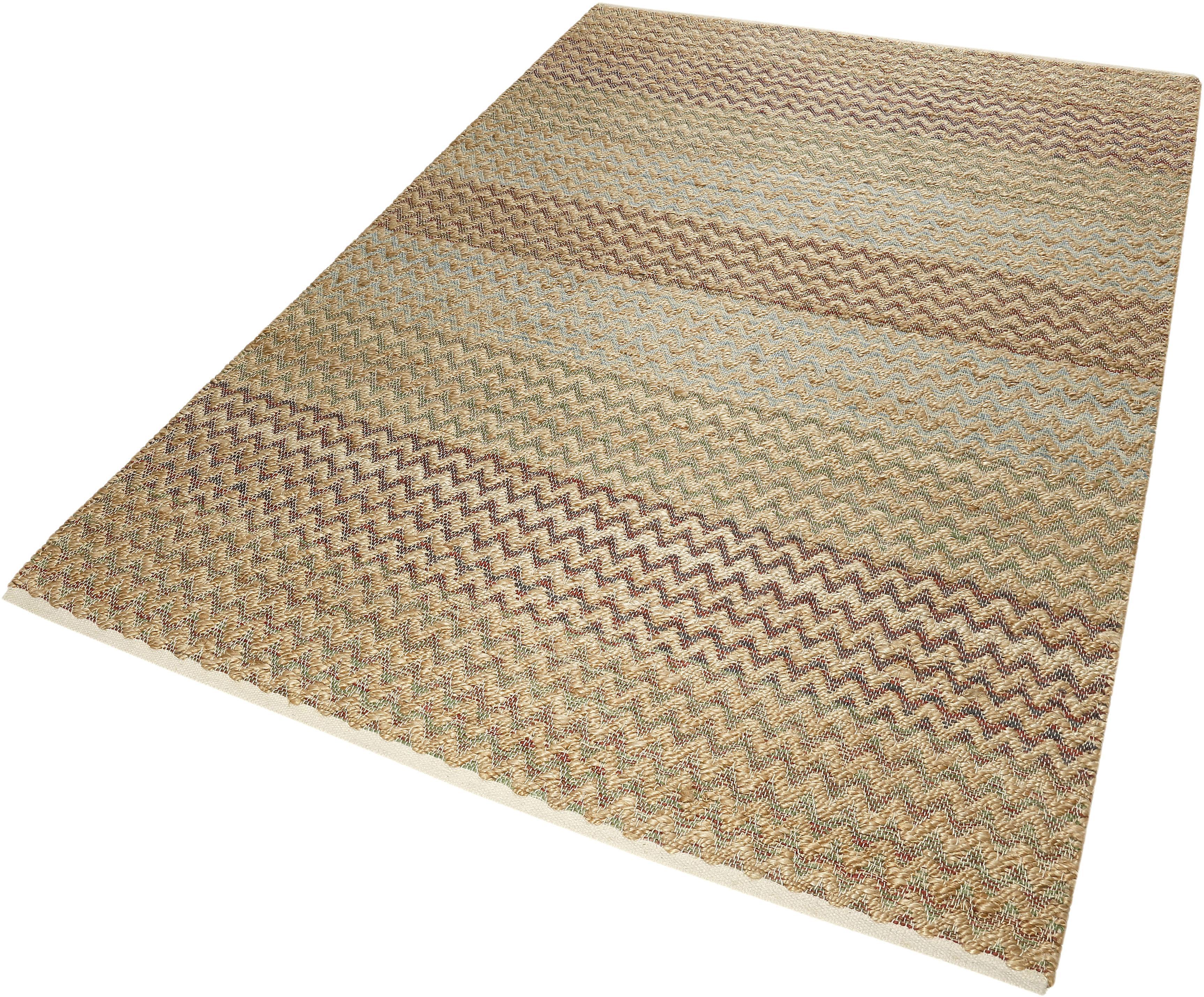 Teppich ZigZag Nature Esprit rechteckig Höhe 7 mm handgewebt