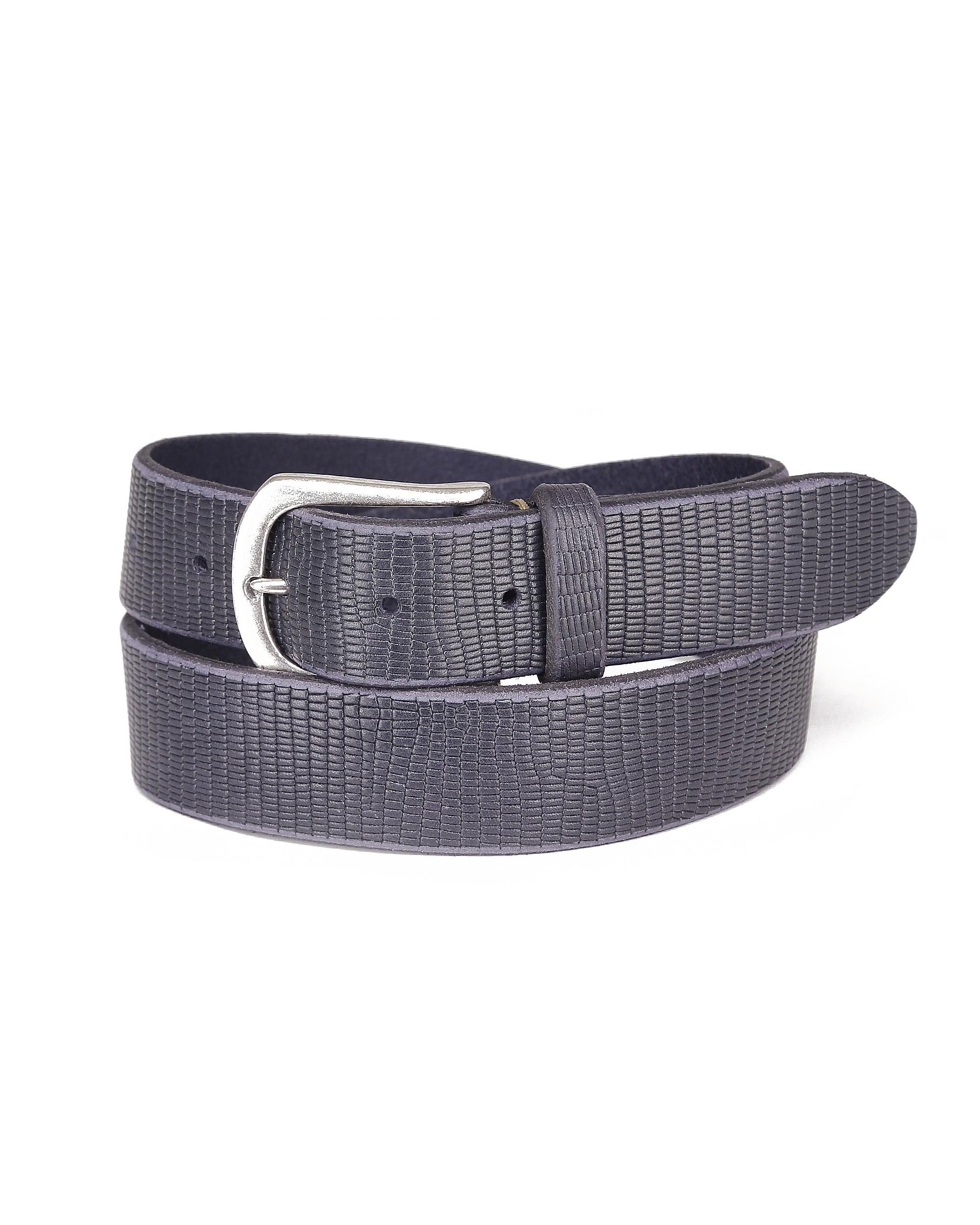 JCC Ledergürtel, Gürtel breit blau Damen Ledergürtel Accessoires