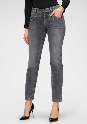 MAC Slim-fit-Jeans »Dream Slim Glam«, Schmaler Schnitt mit Zierelementen an den vorderen Taschen kaufen
