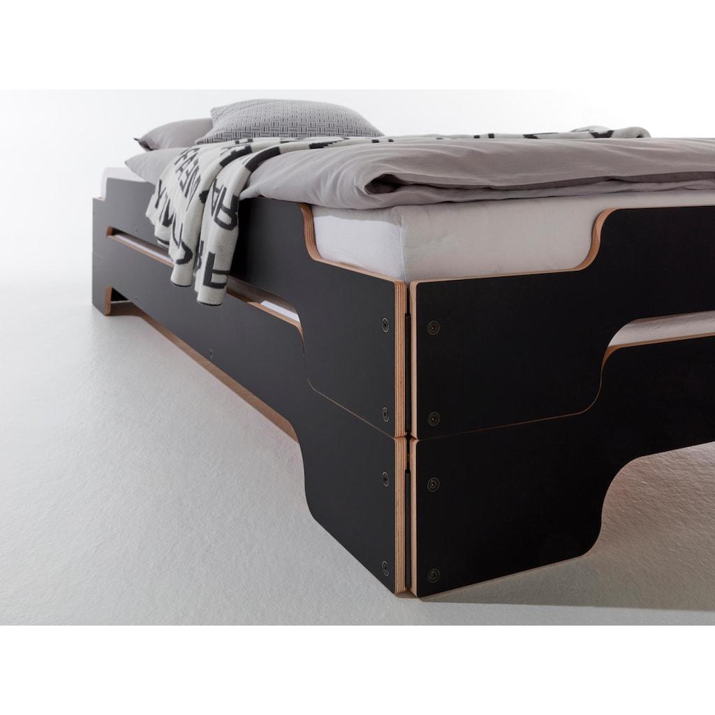 Müller SMALL LIVING Stapelbett »STAPELLIEGE Klassik ( eine Liege)«, Gestellhöhe: 23,5 cm, ausgezeichnet mit dem German Design Award - 2019