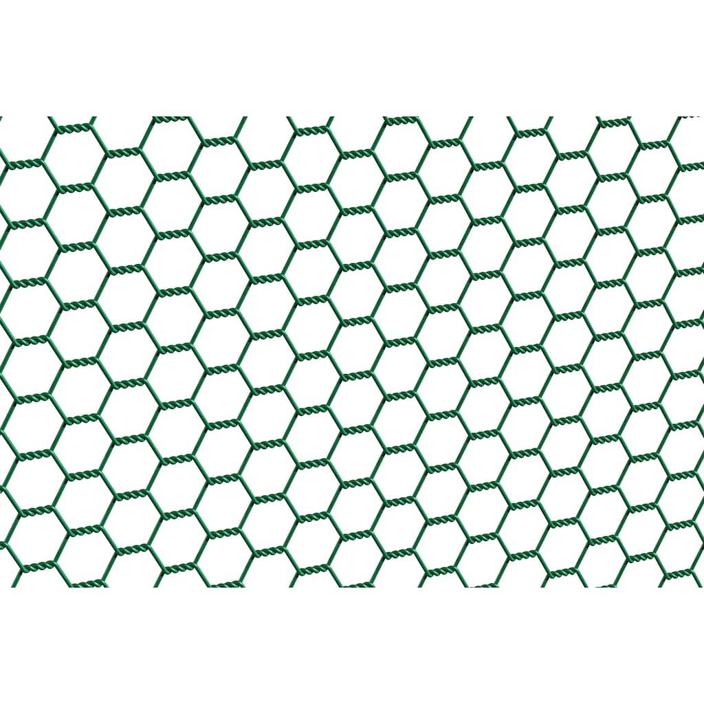 GAH Alberts Sechseckgeflecht, 100 cm hoch, 25 m, grün beschichtet
