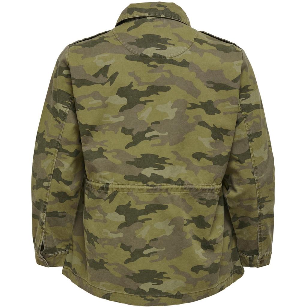 ONLY CARMAKOMA Fieldjacket, in Tarnfarben-Optik mit aufgesetzten Taschen