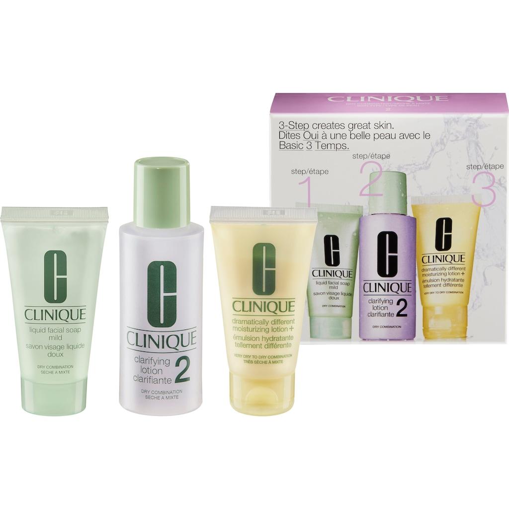 CLINIQUE Gesichtreinigungs-Set »3-Phasen-Systempflege Hauttyp 2«