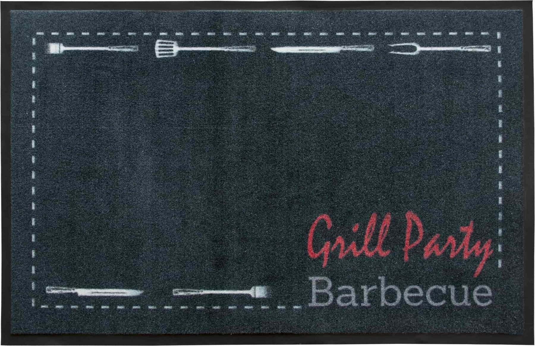 Fußmatte BBQ Party Primaflor-Ideen in Textil rechteckig Höhe 5 mm