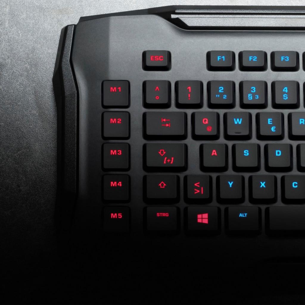 ROCCAT »Roccat Horde AIMO Membranical RGB Keyboard (schwarz)« Gaming-Tastatur