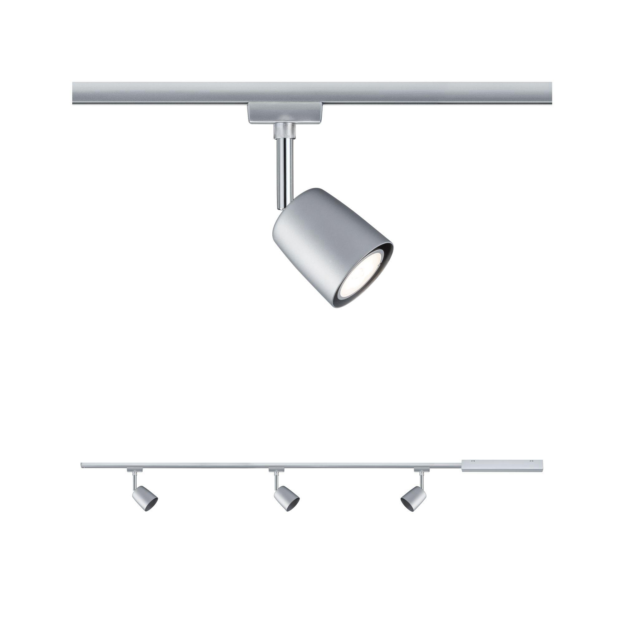 Paulmann,LED Deckenleuchte URail Set GU10 Cover Chrom matt max. 10W