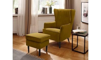 Home affaire Sessel »Niebüll«, mit Holzfüßen kaufen