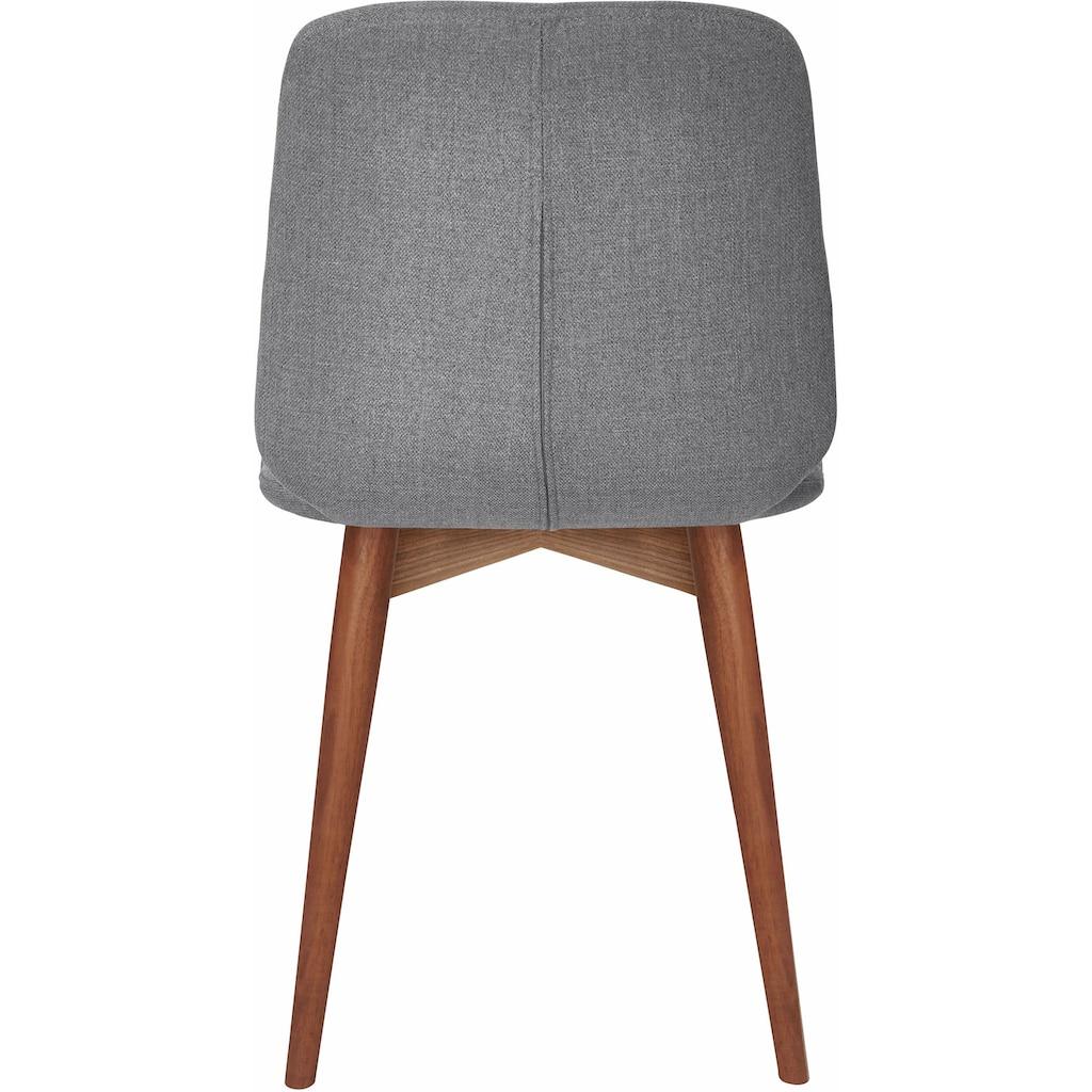 PBJ Polsterstuhl »Basic Cut«, Beine walnut, im nordischen Design