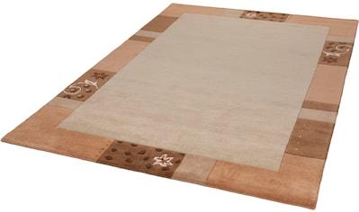 THEKO Wollteppich »Royal Ganges«, rechteckig, 13 mm Höhe, reine Wolle, mit Bordüre, Wohnzimmer kaufen