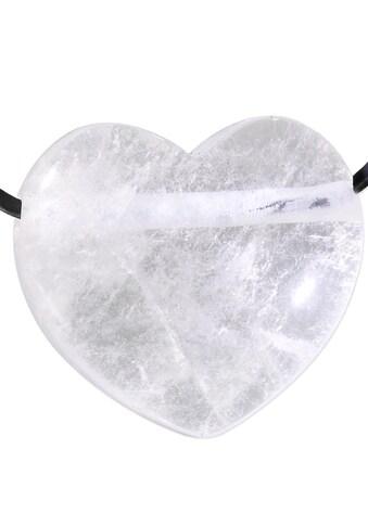 Adelia´s Kettenanhänger »Bergkristall Anhänger Herz transparent«, Bergkristall Herz... kaufen