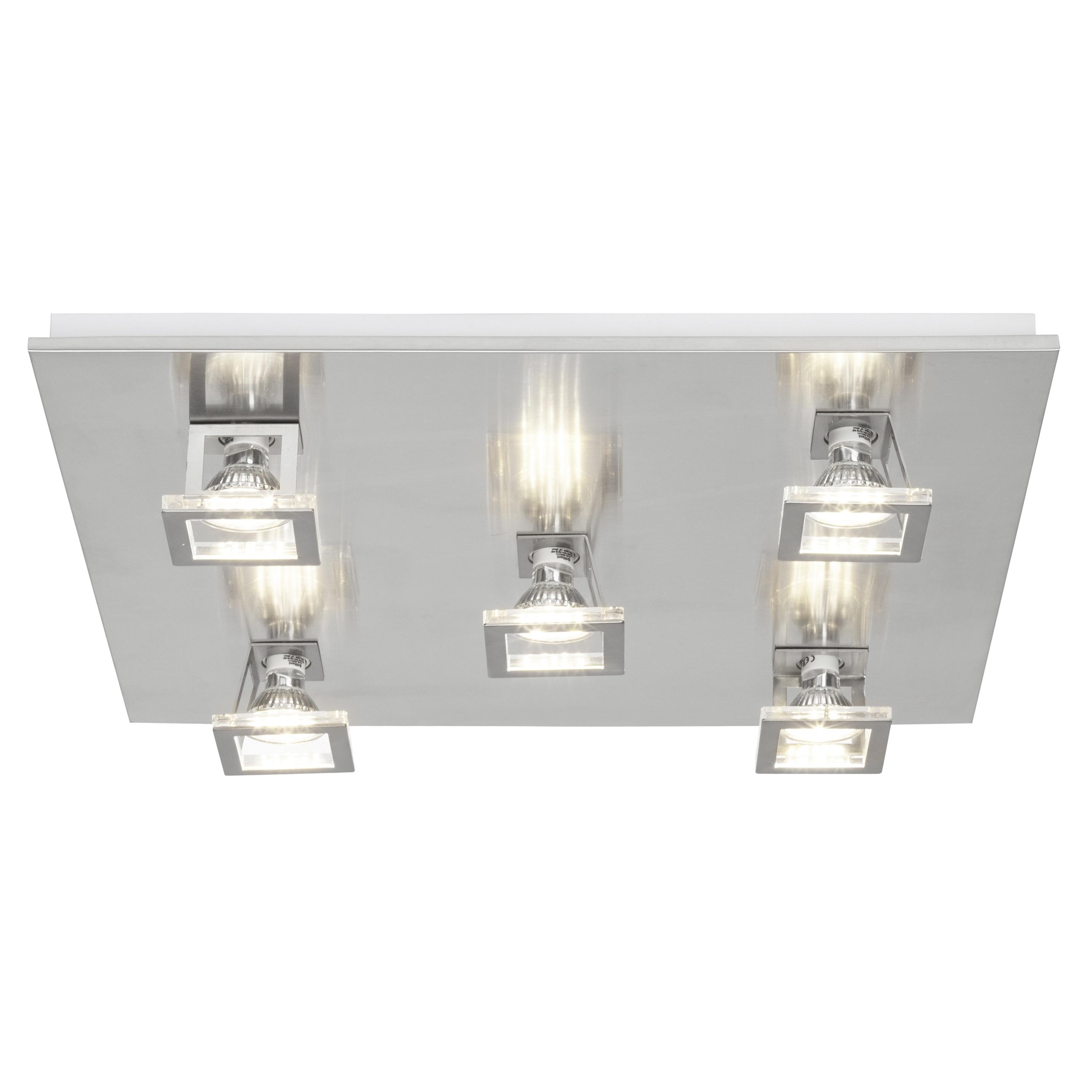 Brilliant Leuchten Window LED Deckenleuchte 5flg nickel