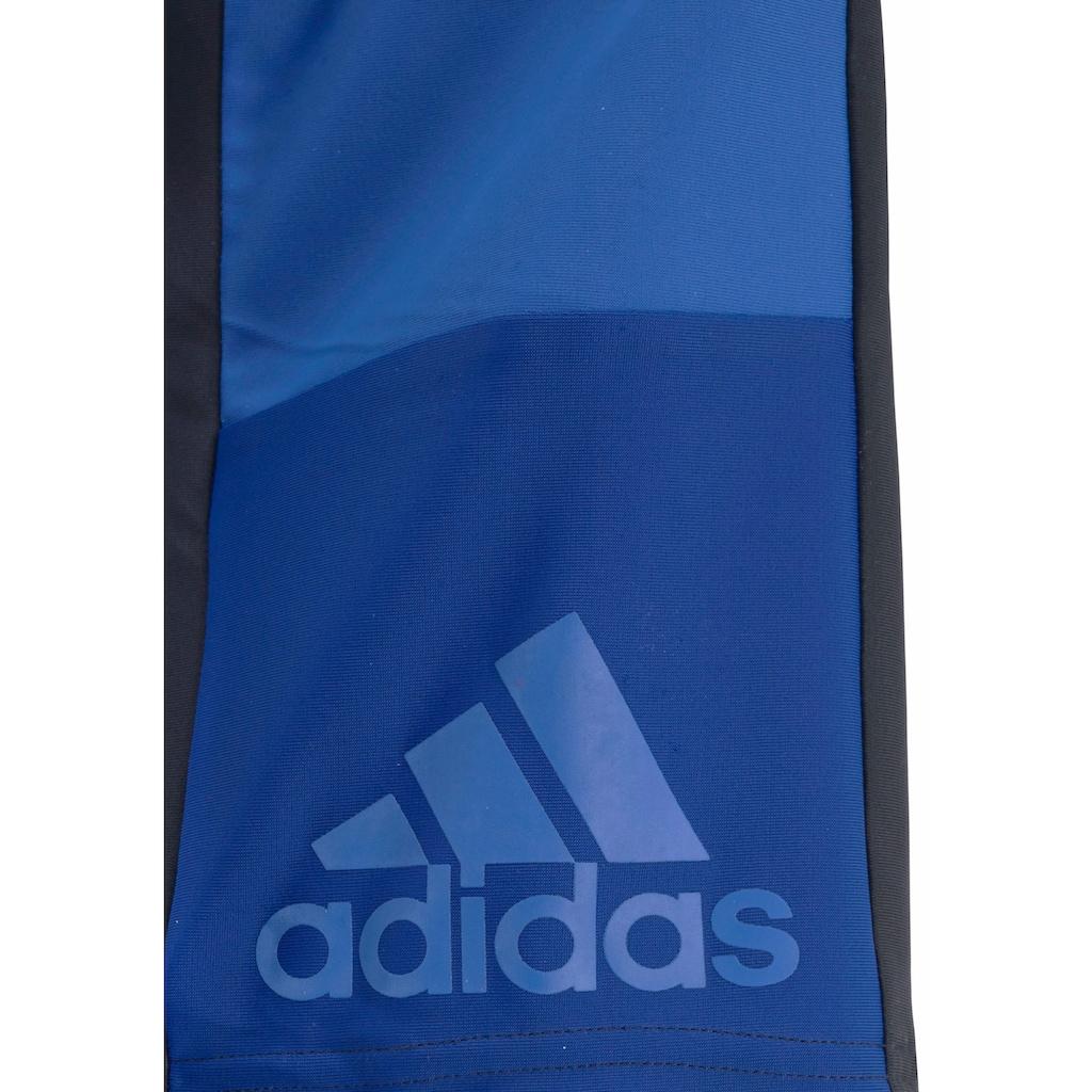 adidas Performance Boxer-Badehose, mit Kontrasteinsätzen