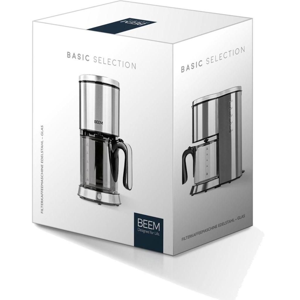 BEEM Filterkaffeemaschine Edelstahl - Glas, Permanentfilter 1x4