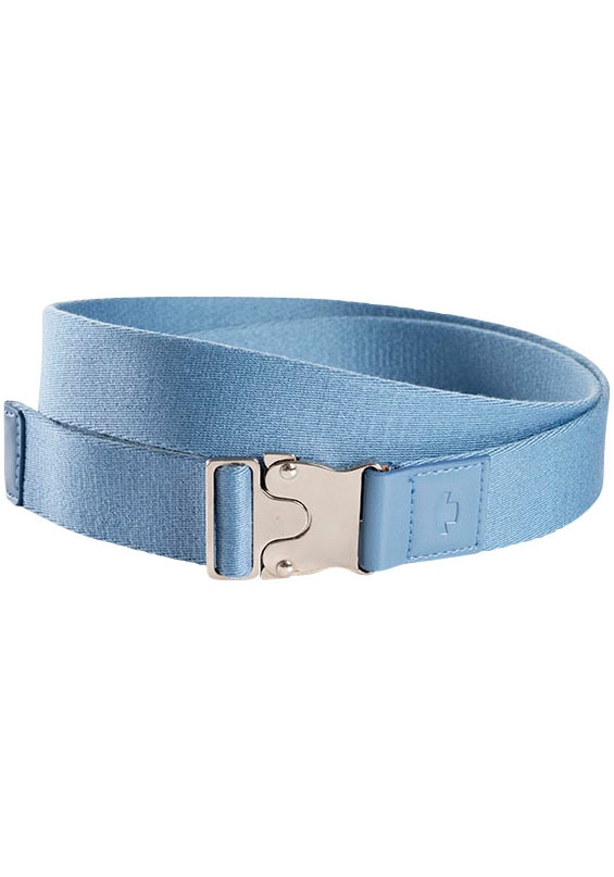 TOM TAILOR Stoffgürtel, Mit Lederbesatz und Logo-Prägung blau Damen Stoffgürtel Gürtel Accessoires