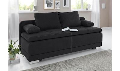 COLLECTION AB Schlafsofa, mit Bettfunktion und Bettkasten, frei im Raum stellbar, inklusive loser Armlehn-und Rückenkissen kaufen