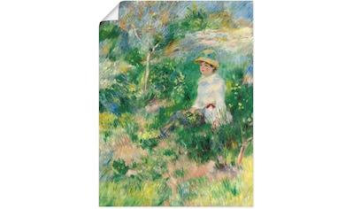 Artland Wandbild »Sommer, junge Frau auf einer Blumenwiese« kaufen